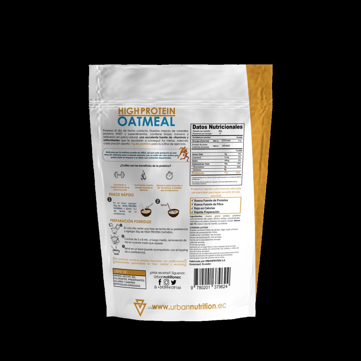 proteina para definir y bajar de peso con avena y suero lacteo whey protein